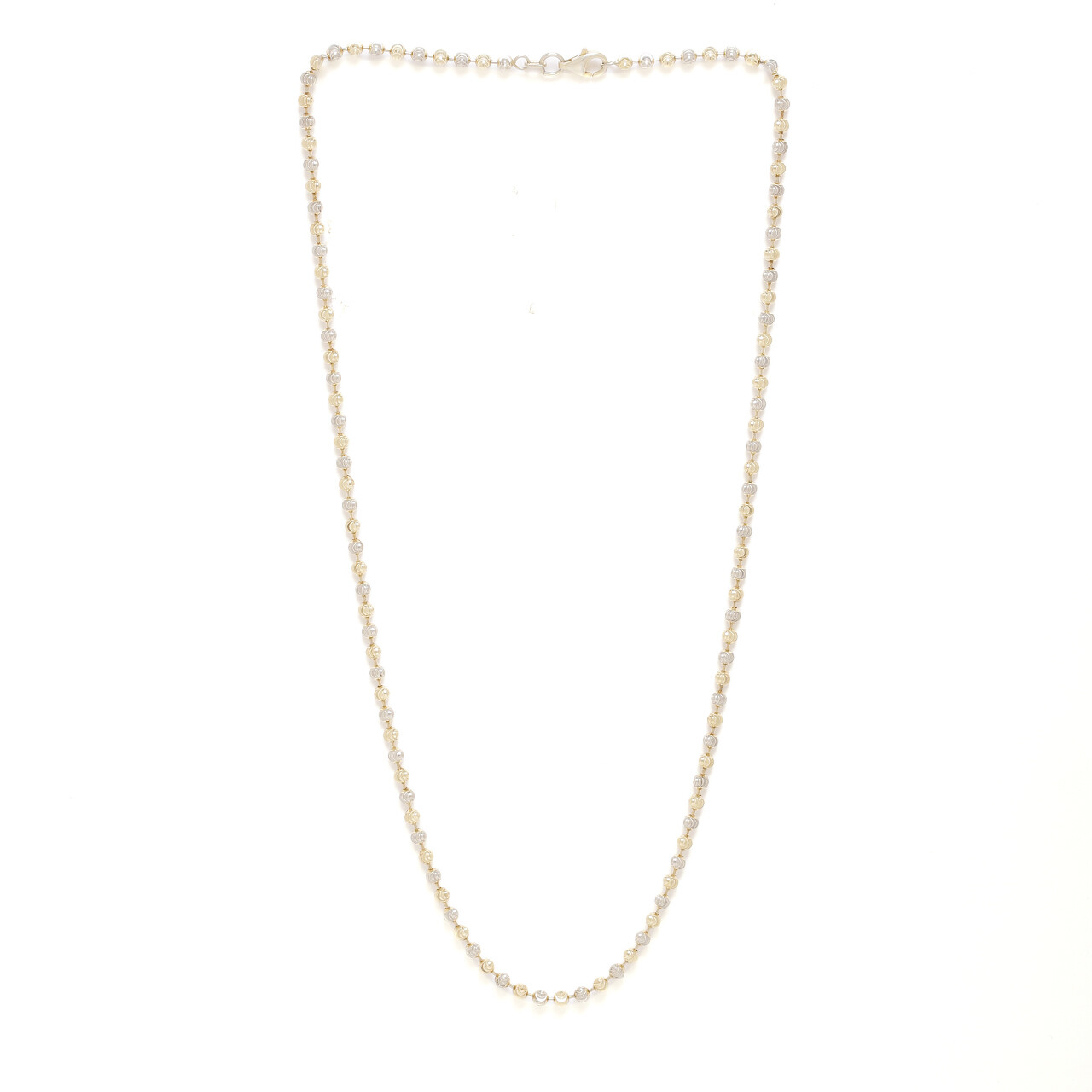 IndusDiva Two Tone Laser Cut Beads Necklace Chain