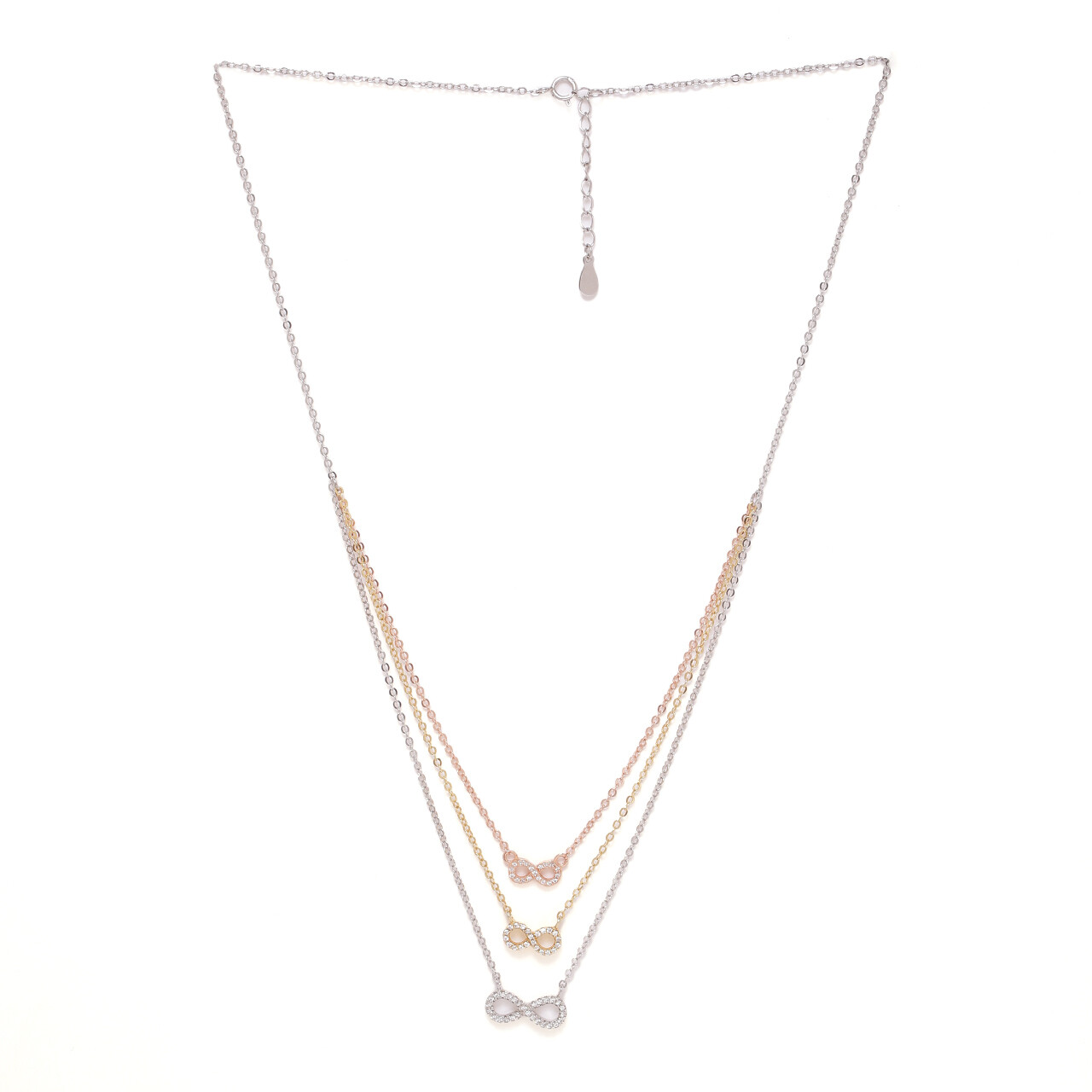 IndusDiva Layered Tri Color Necklace