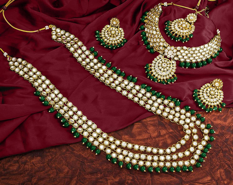 Aheli Green Kundan Bridal Traditional Jewellery