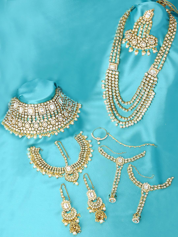 Aheli Indian Bridal Faux Kundan Jewellery Set
