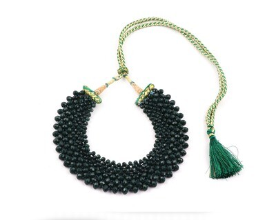 Fabulous Green Hand knotted Choker Necklace For Women
