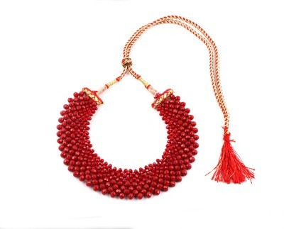 Fabulous Red Hand knotted Choker Necklace For Women