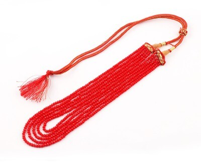 Beautiful 5 Layer Red Beaded Fashion Necklace For Women