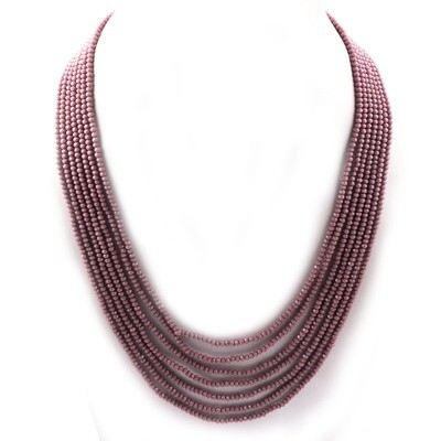 Beautiful 7 Layer Purple Beaded Fashion Necklace For Women
