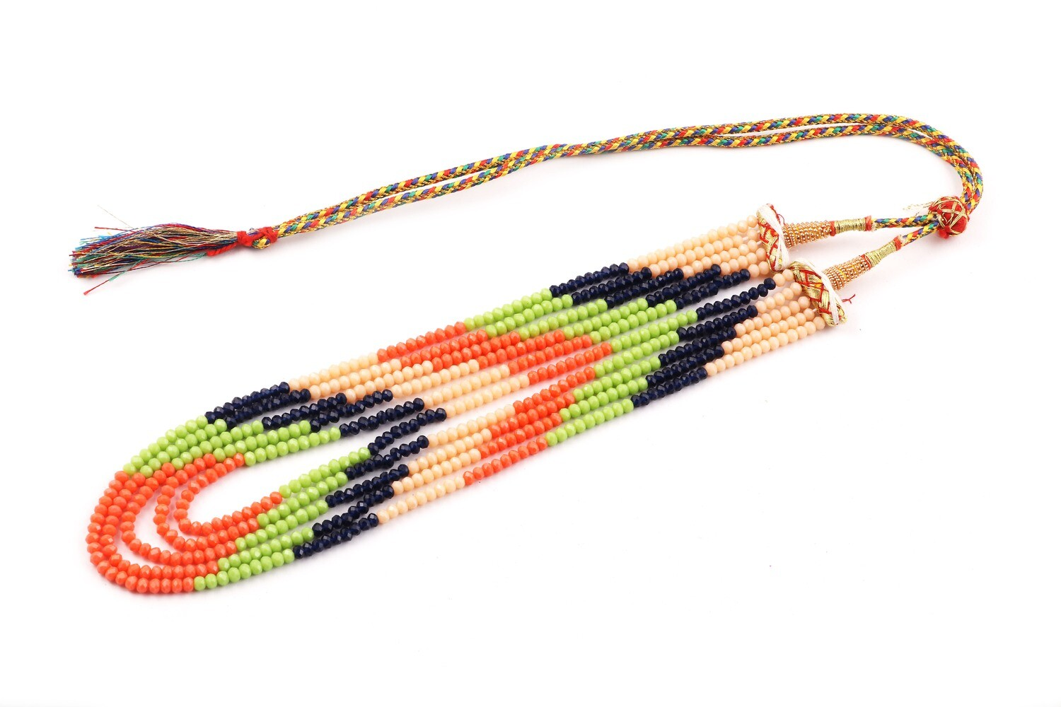 Beautiful 5 Layer Multicolour Beaded Fashion Necklace For Women