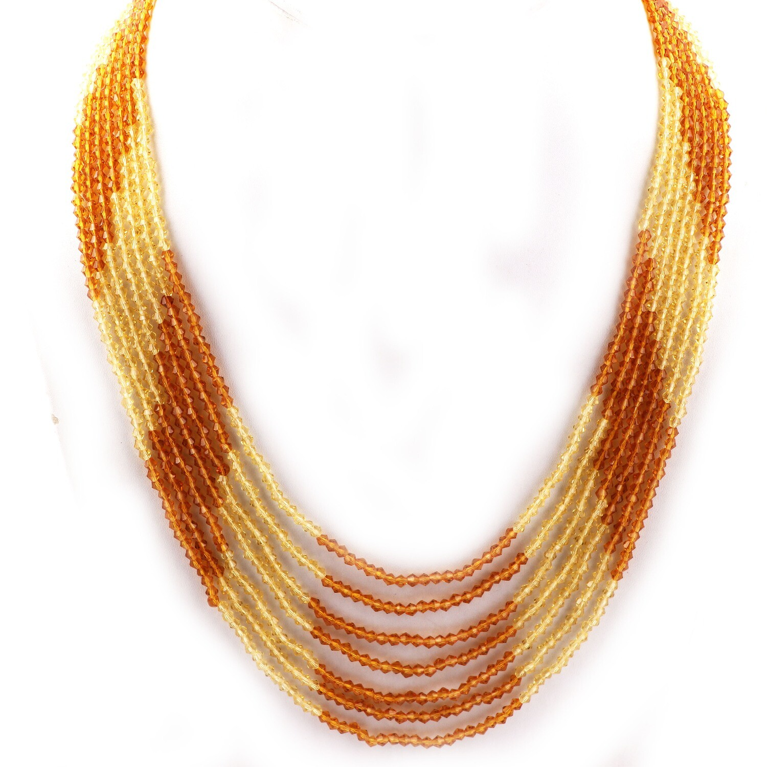 Trendy 7 Layer Multicolour Beaded Fashion Necklace For Women