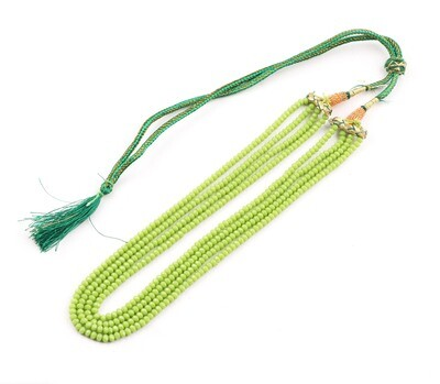 Beautiful 5 Layer Green Beaded Fashion Necklace For Women