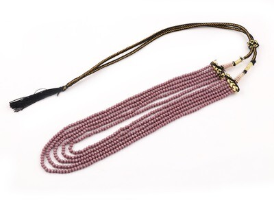 Beautiful 5 Layer Purple Beaded Fashion Necklace For Women