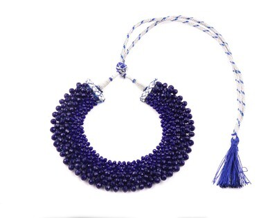 Fabulous Blue Hand knotted Choker Necklace For Women