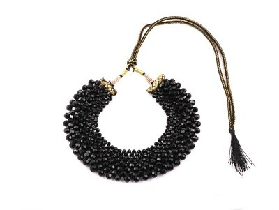 Fabulous Black Hand knotted Choker Necklace For Women
