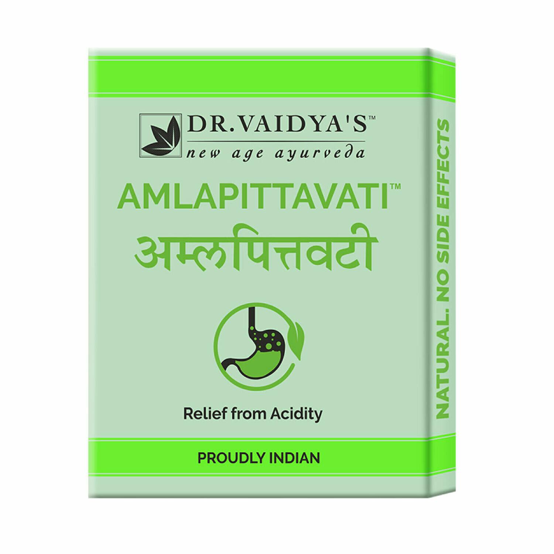 Dr. Vaidya's Amlapittavati Pills - Ayurvedic Treatment for Acidity - Pack of 3