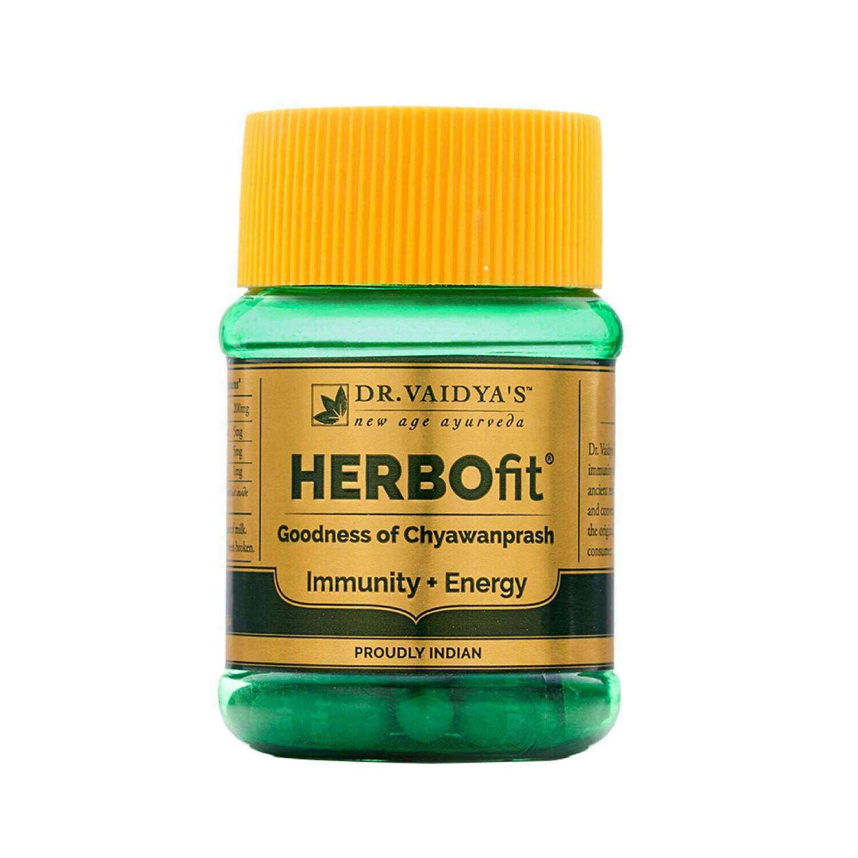 Dr. Vaidya's HERBOfit - Chyawanprash Capsules - Immunity & Energy - Pack of 2