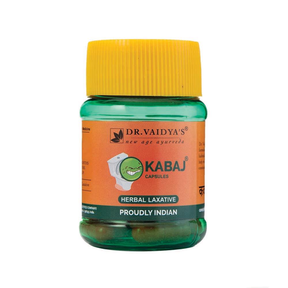 Dr. Vaidya's Kabaj Capsules Ayurvedic Capsules for Constipation - Pack of two