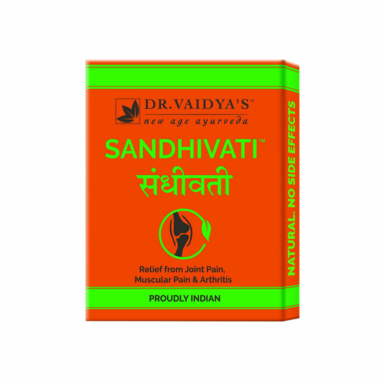 Dr. Vaidya's Sandhivati Pills - Ayurvedic Treatment for Arthritis & Joint Pain - Pack of 4