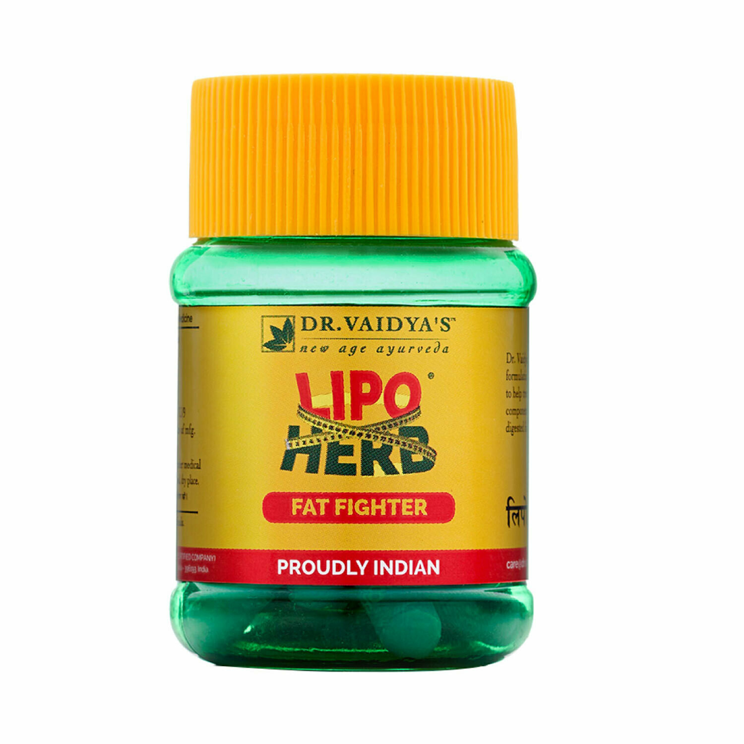 Dr. Vaidya's Lipoherb Capsules - Ayurvedic Treatment for Weight Loss and Cholesterol - Pack of 3
