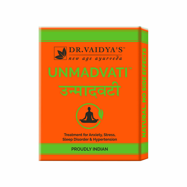 Dr. Vaidya's Unmadvati Pills- Ayurvedic Treatment for Sleep, Anxiety, Stress & Hypertension - Pack of 3