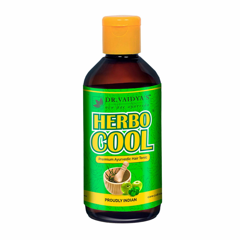 Dr. Vaidya's Herbocool Hair Tonic - Ayurvedic Anti-Hairfall and Anti-Greying Oil