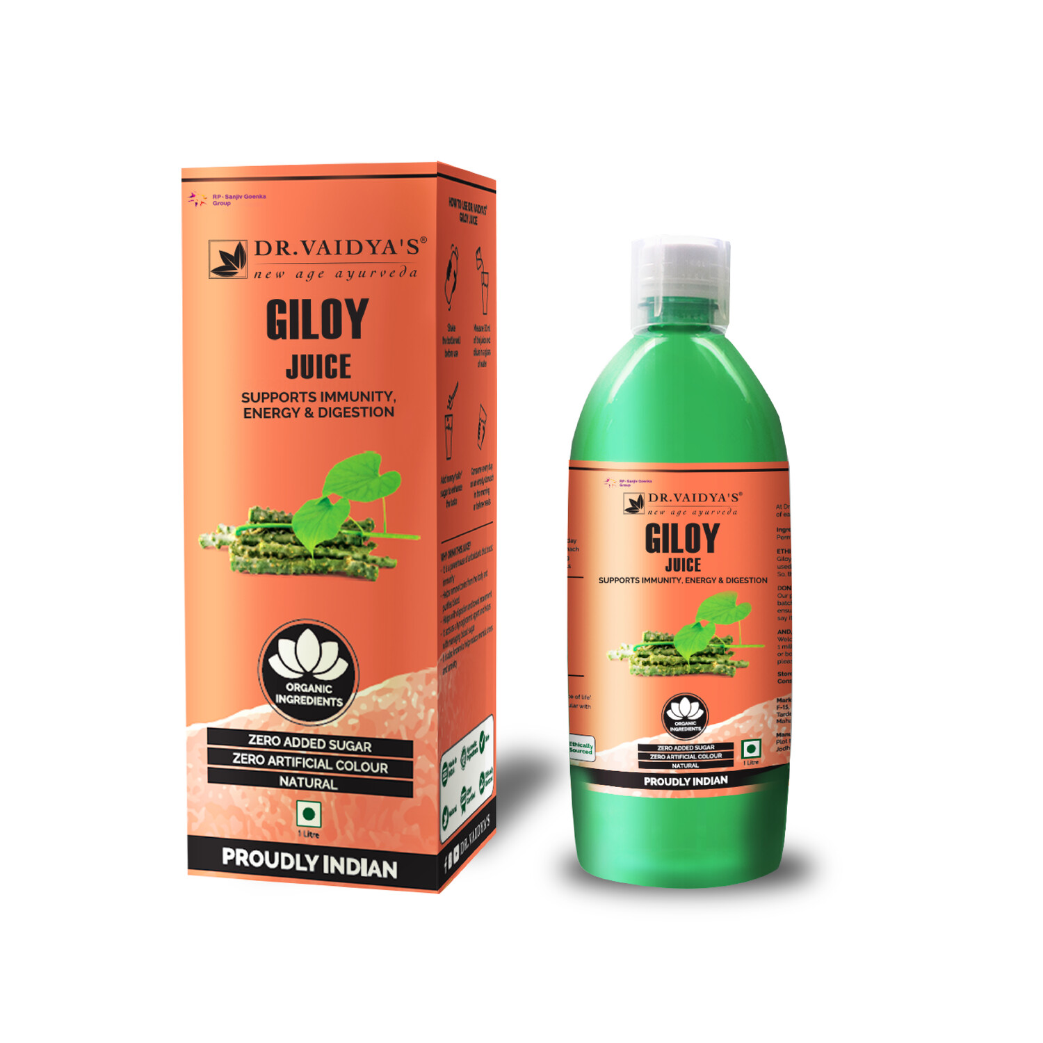 Dr. Vaidya's Giloy Juice - Vegetarian , Zero Added Sugar