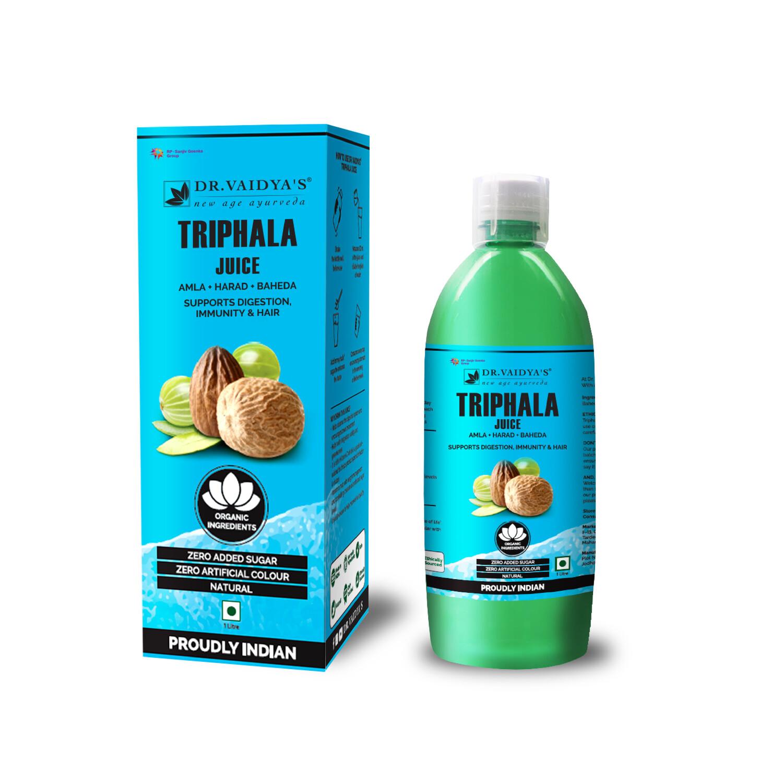 Dr. Vaidya's Triphala Juice - Amla Harad Baheda - Vegetarian Zero Added Sugar