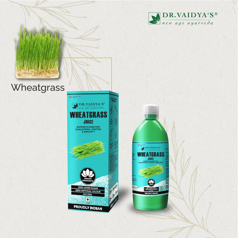 Dr. Vaidya's Wheatgrass Juice- Vegetarian Zero Added Sugar
