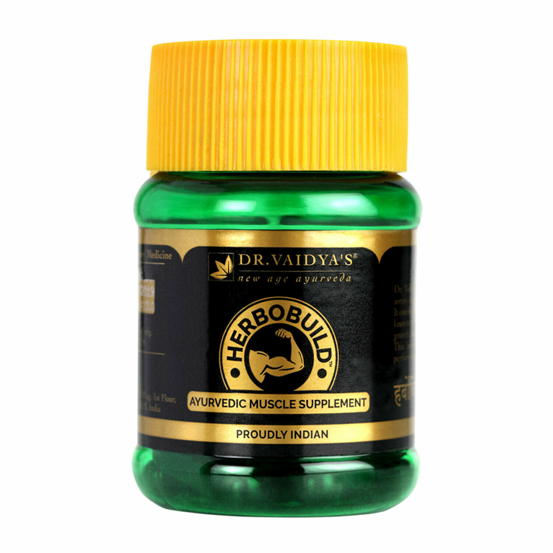 Dr Vaidya's Herbobuild -Ayurvedic Capsules for Muscle Gain