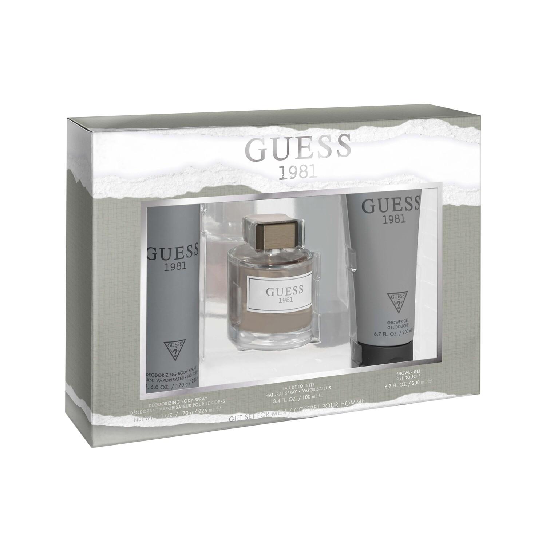 Guess 1981 Gift Set for Mens (Eau de Toilette 100ml  +  Shower Gel 200 ml  +  Body Spray 226ml)