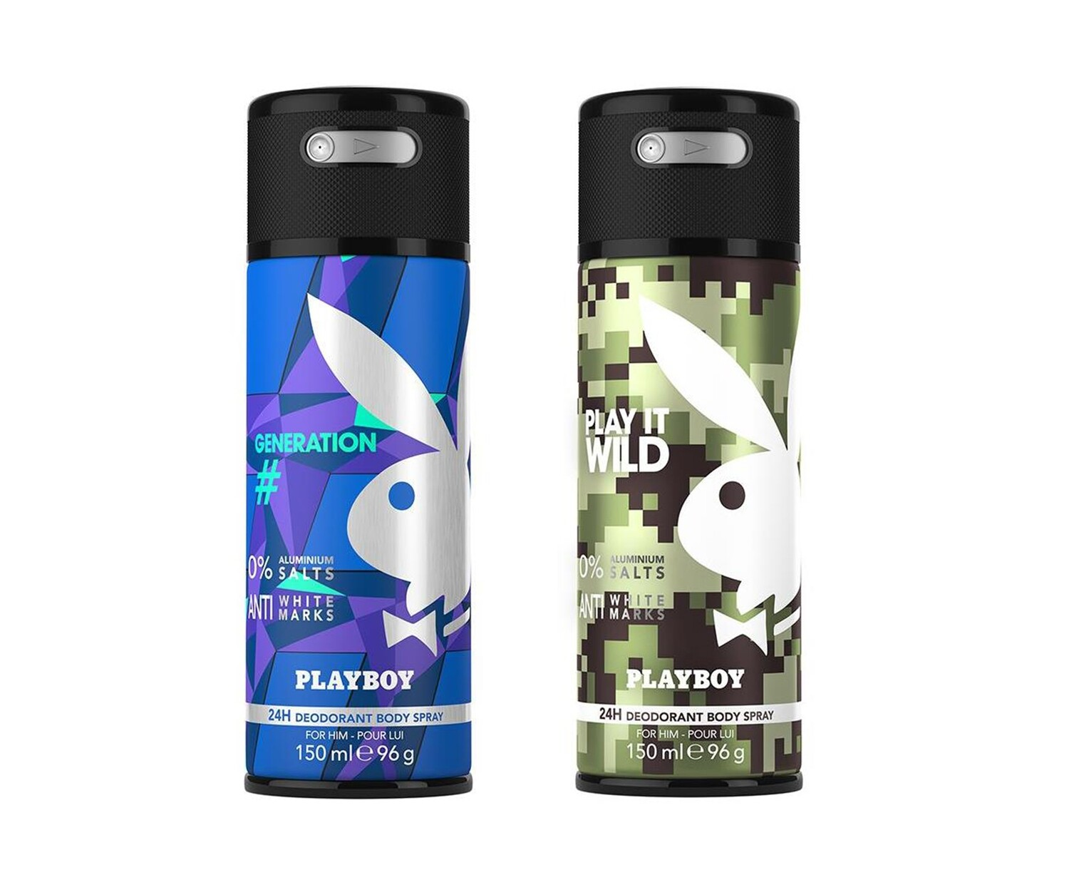 Playboy Generation + Wild Deo New Combo Set - Pack of 2 Men