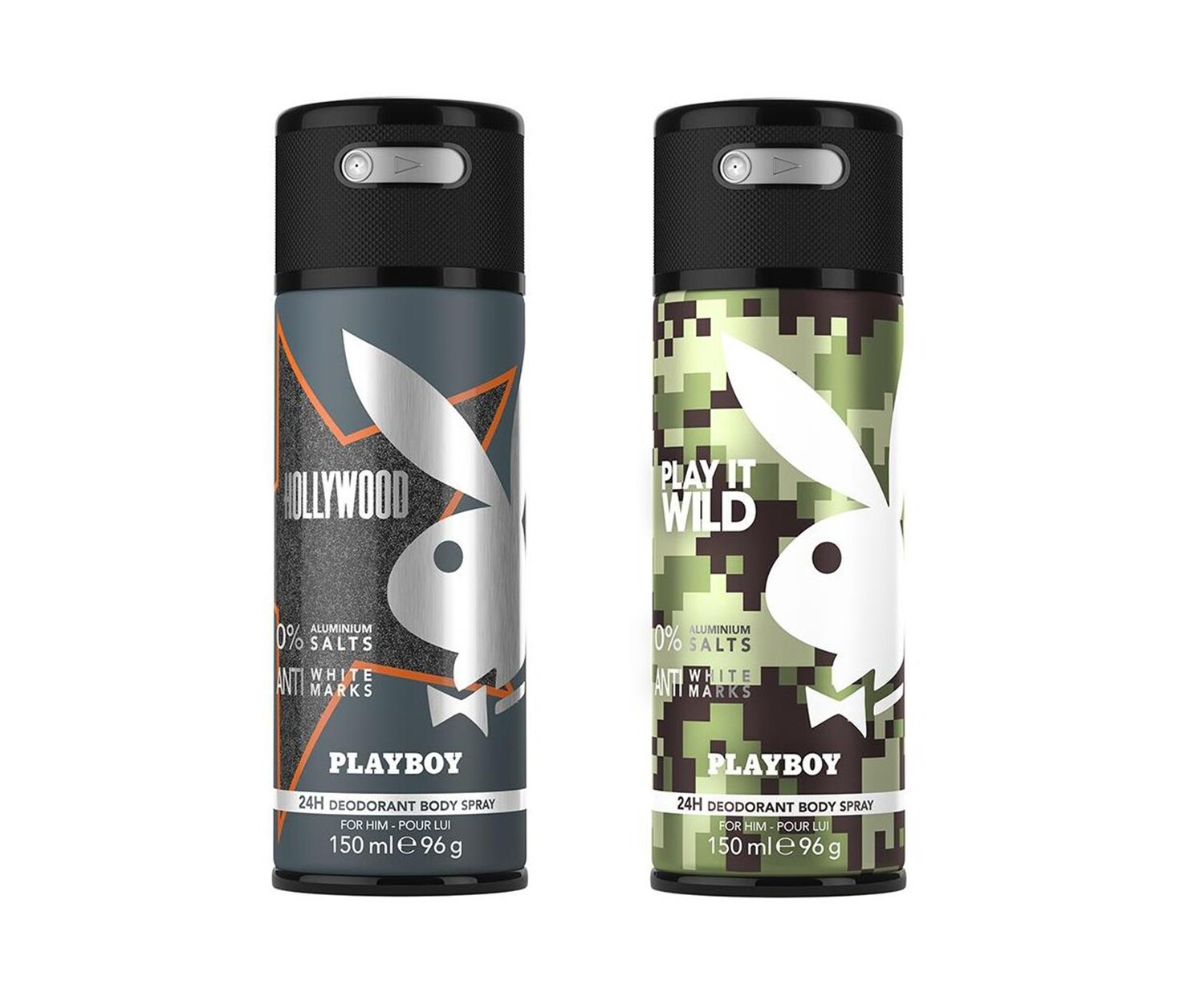 Playboy Hollywood + Wild Deo New Combo Set - Pack of 2 Men