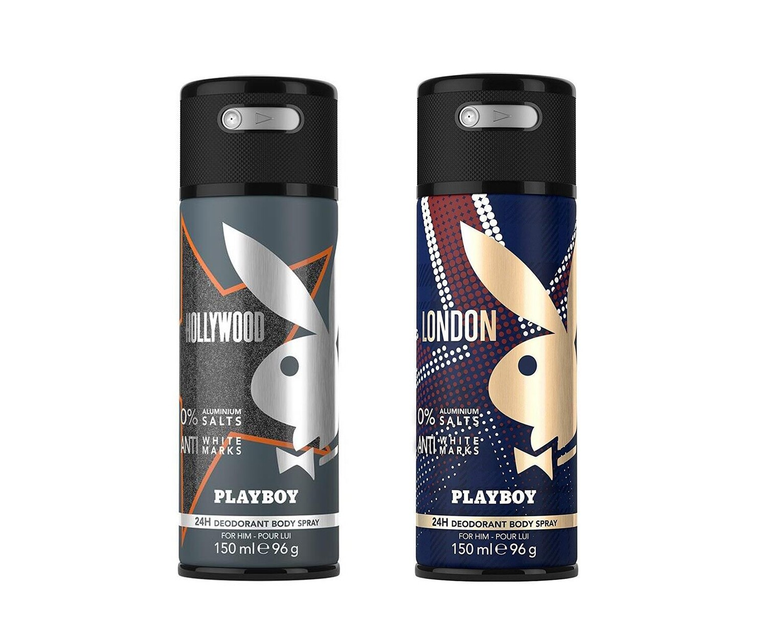 Playboy Hollywood + London Deo New Combo Set - Pack of 2 Men