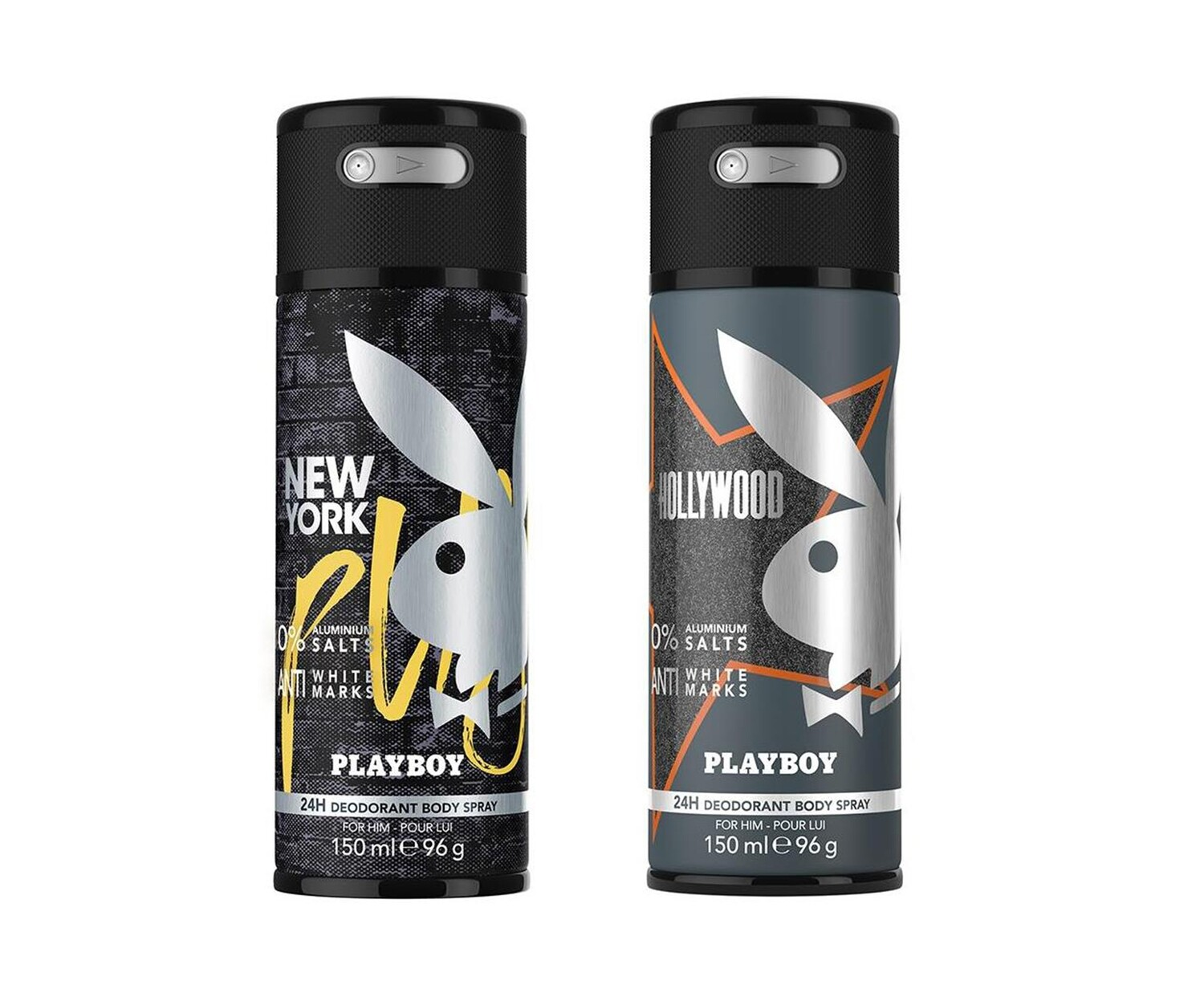 Playboy Hollywood + New York Deo New Combo Set - Pack of 2 Men