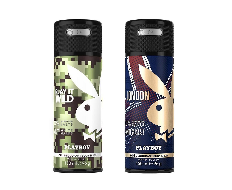 Playboy Wild + London Deo New Combo Set - Pack of 2 Men