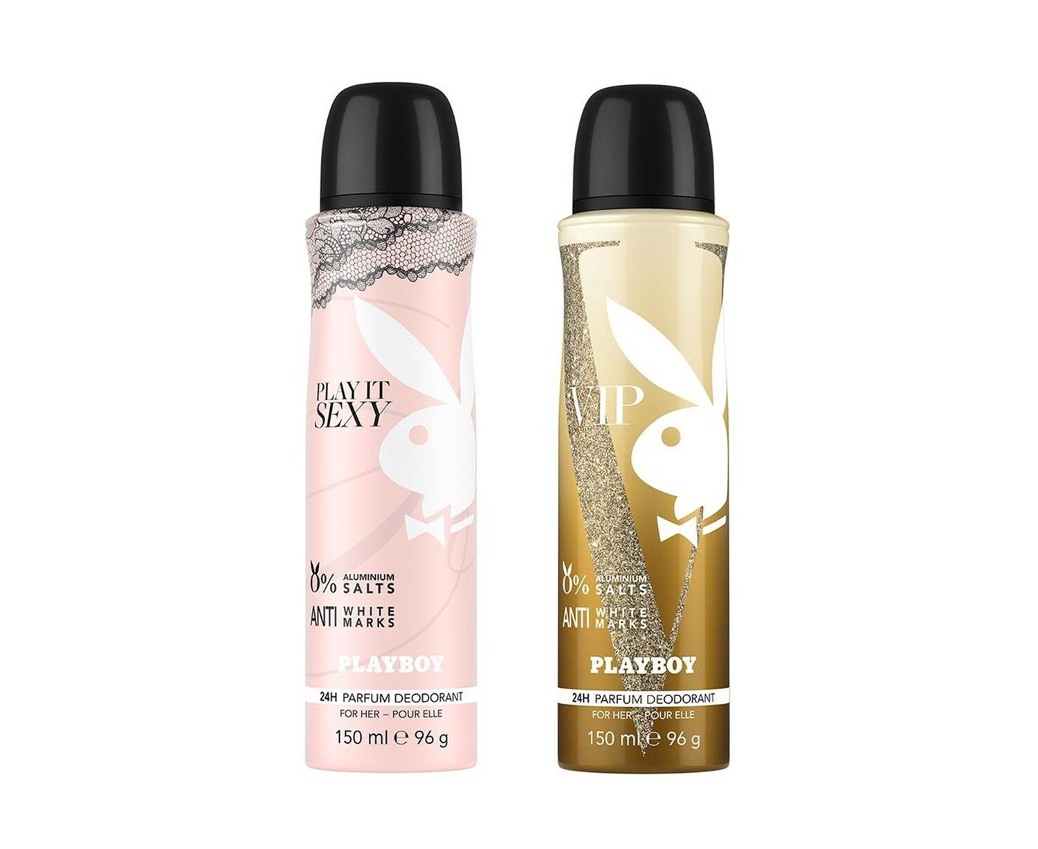 Playboy Sexy + VIP Deo New Combo Set - Pack of 2 Women
