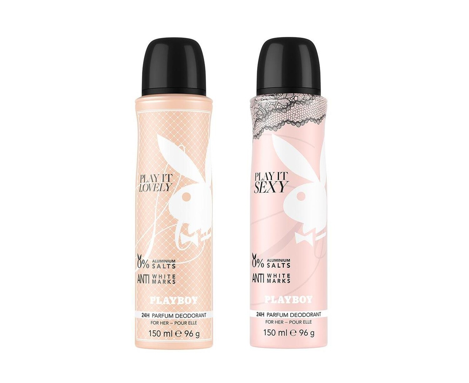 Playboy Lovely + Sexy Deo New Combo Set Pack of 2 Men