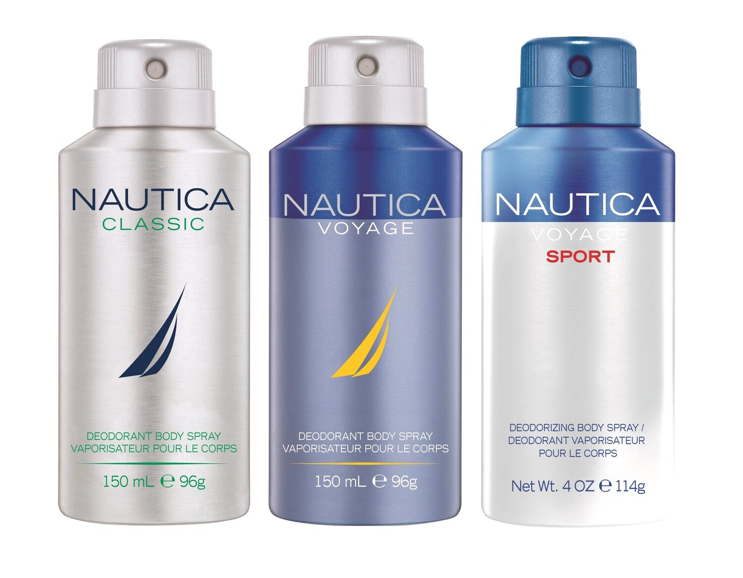 Nautica Classic + Voyage + Voyage Sports Deo Combo Set - Pack of 3