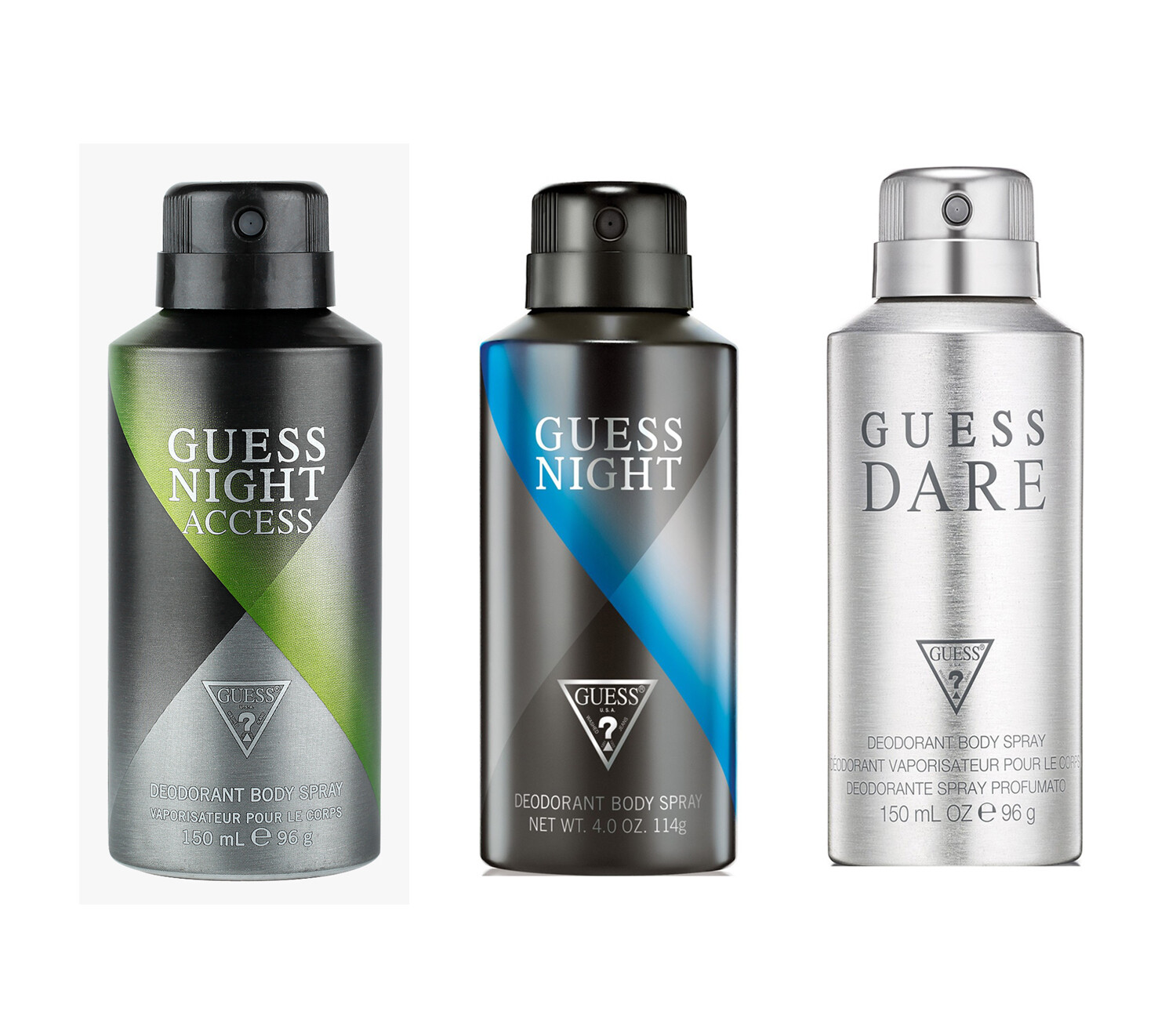Guess Night + Night Access + Dare Deo Combo Set - Pack of 3
