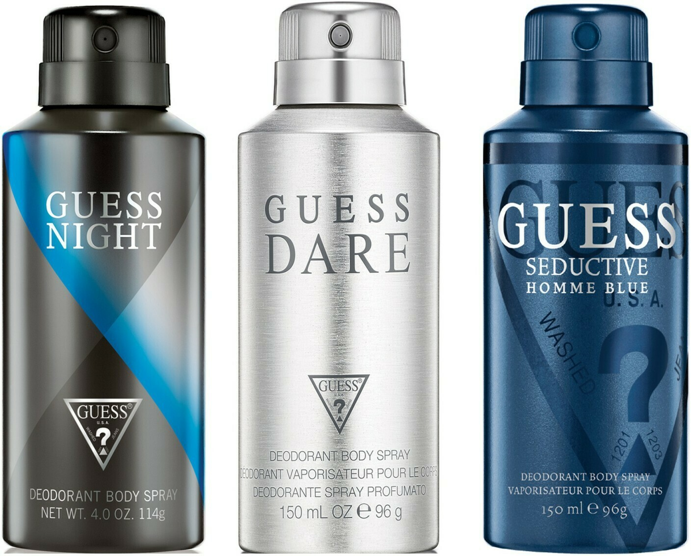 Guess Night + Seductive Home Blue + Dare Deo Combo Set - Pack of 3