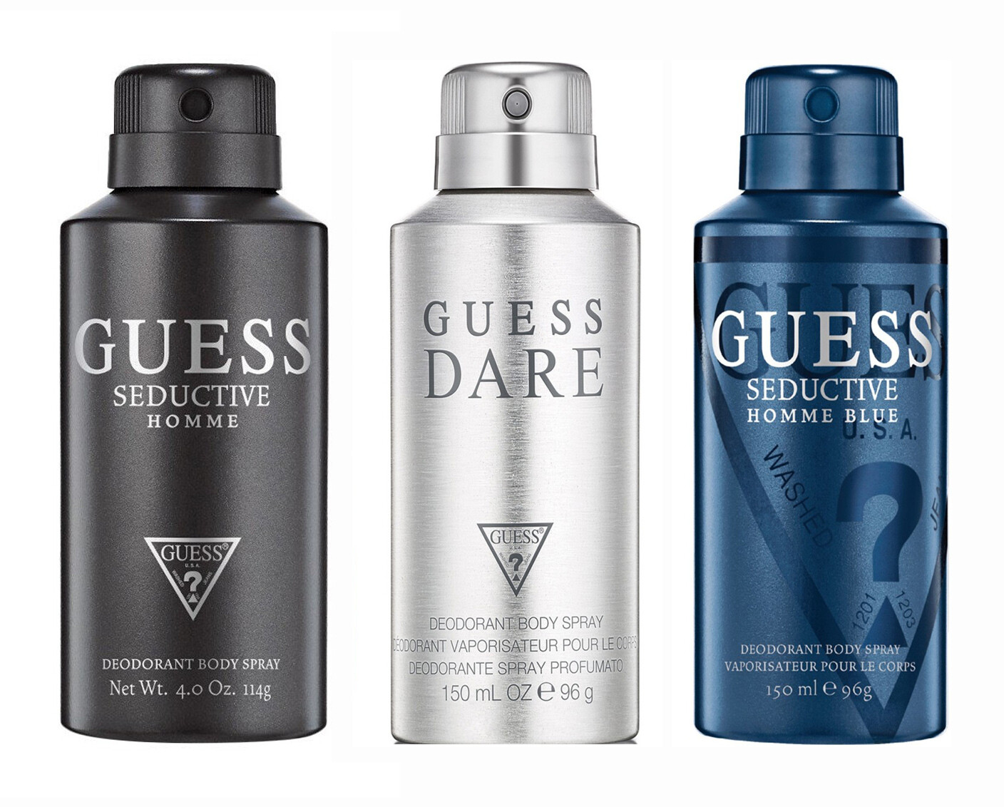 Guess Seductive Homme + Seductive Homme Blue + Dare Deo Combo Set - Pack of 3