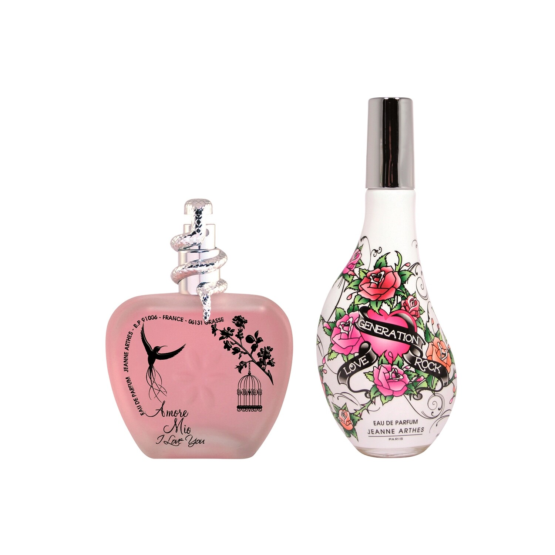 Jeanne Arthes Amore Mio I Love You + Love Generation Rock Eau de Parfum Combo Set - Pack of 2