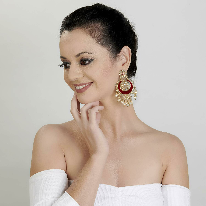 Aheli Traditional Chandbali Dangle Earring for Women