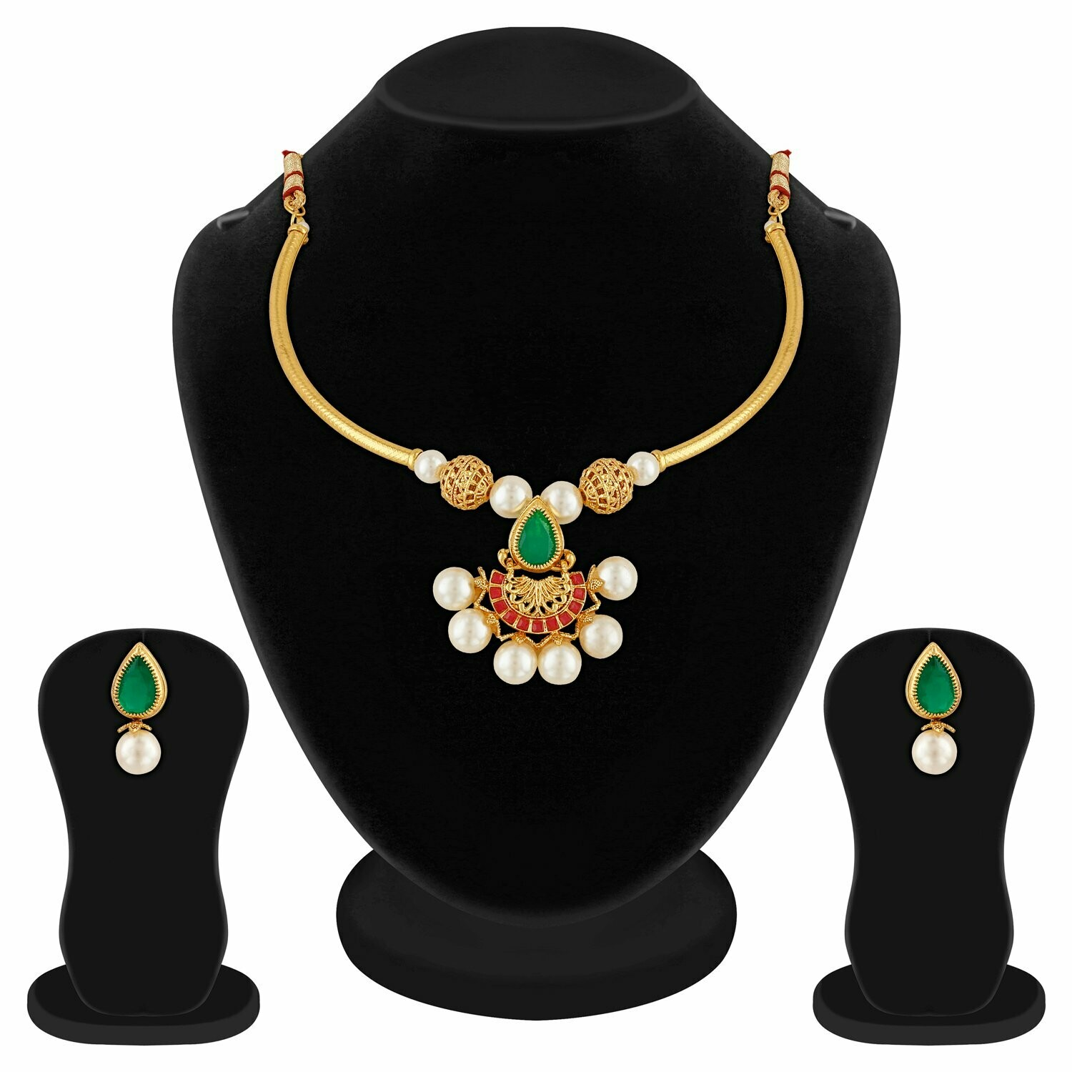 Aheli Elegant Necklace Earring Fashion Jewelry Set For Women