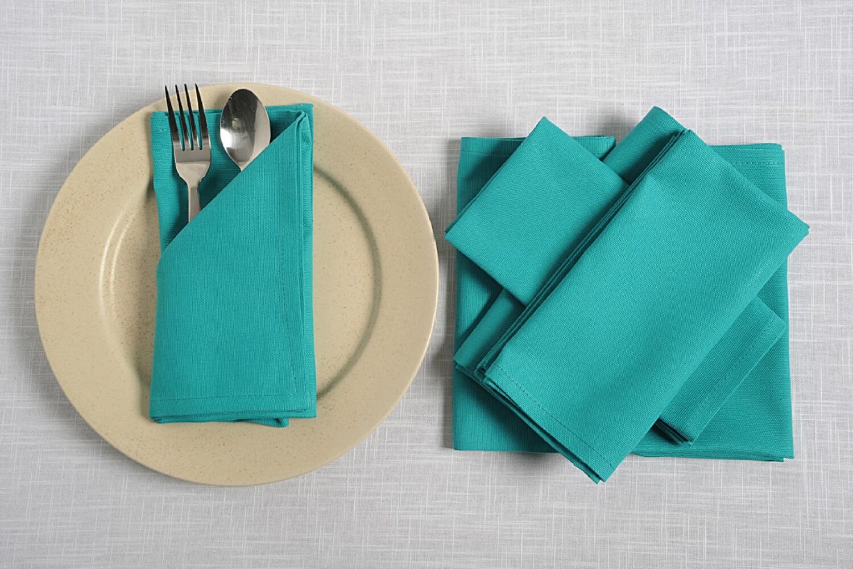 SWAYAM Aqua Colour Dinner Table Napkin Set