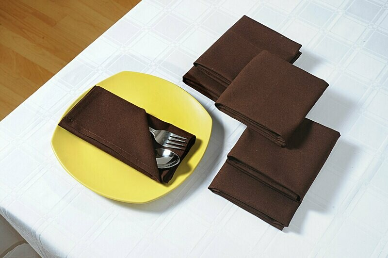 SWAYAM Choco Colour Dinner Table Napkin Set