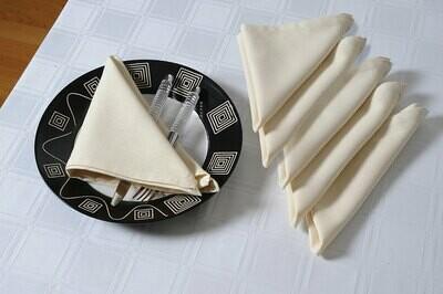 SWAYAM Cream Colour Dinner Table Napkin Set