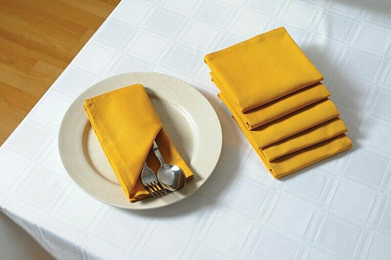 SWAYAM Yellow Colour Dinner Table Napkin Set