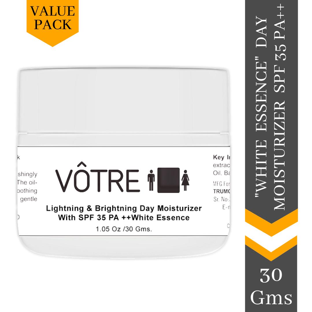 "Votre Lightening & Brightening Day Moisturiser SPF 35 pa++ ""white essence Mini"""