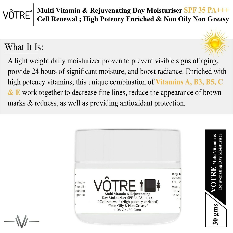 "Votre Multi Vitamin & Rejuvenating Day Gel SPF 35 pa++ ""cell renewal"" ""Mini"""