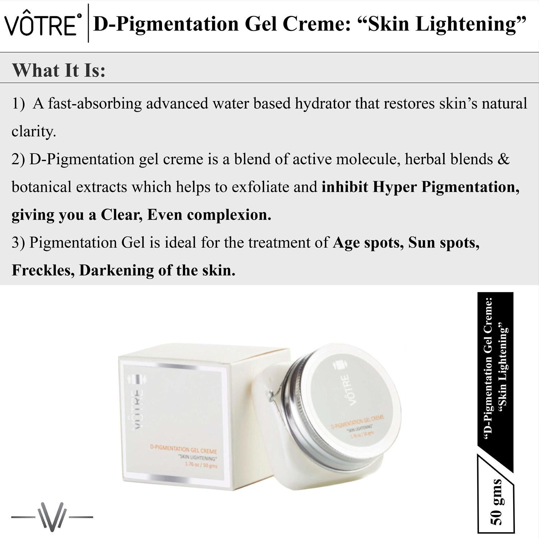 """Votre D Pigmentation Gel Crème """"skin lightening"""""""