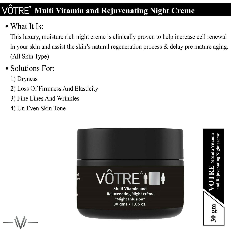 "Votre Multi Vitamin & Rejuvenating Night Crème ""night infusion"" ""Mini"""