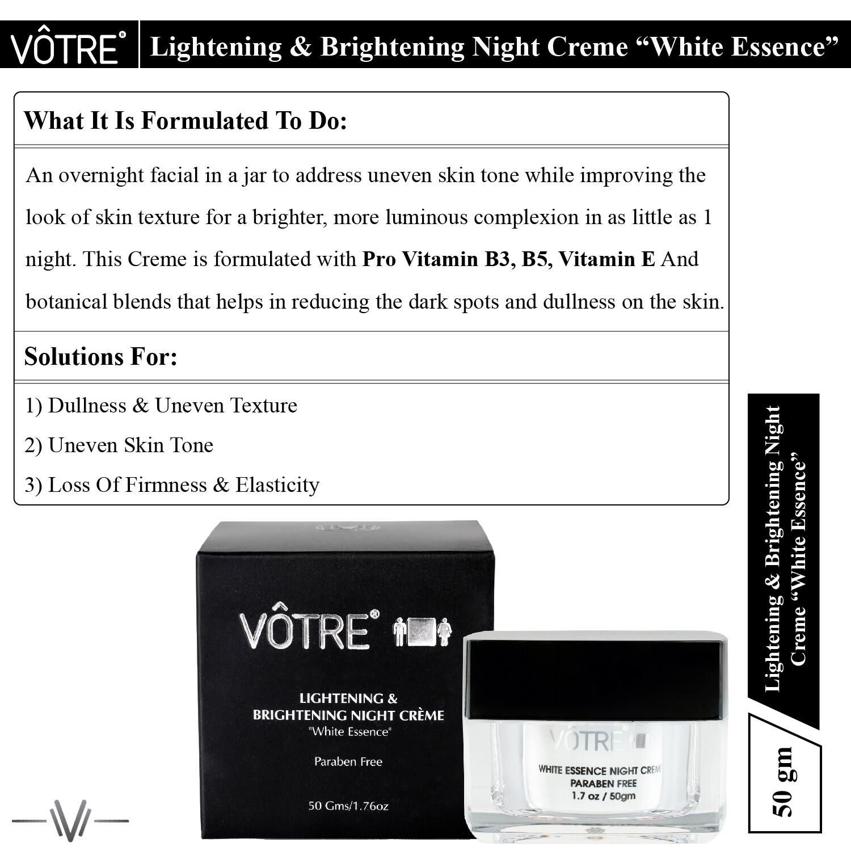 """Votre Lightening & Brightening Night Crème """"white essence"""""""