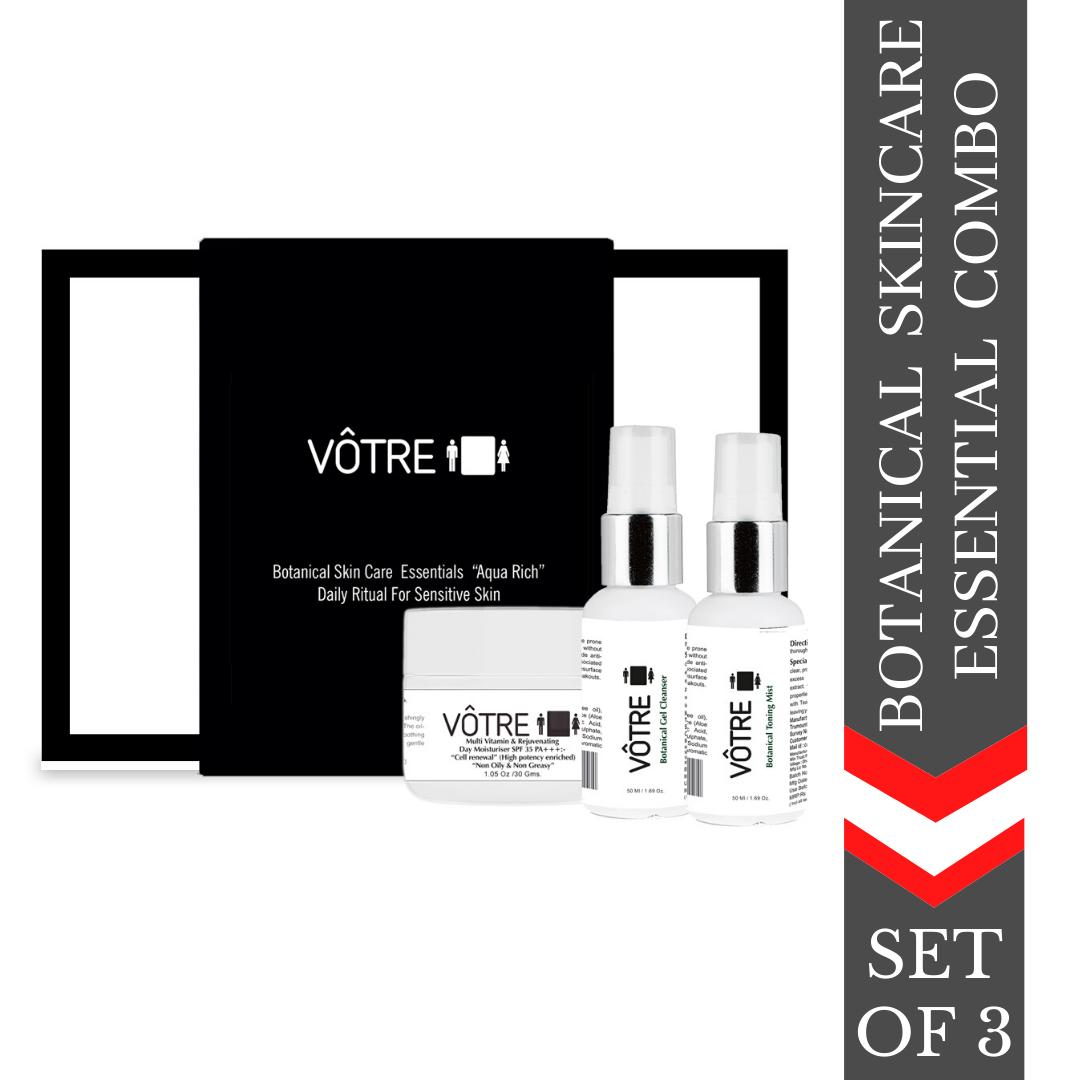 """VÔTRE Botanical Skincare Essentials """"Aqua Rich"""" Daily ritual for sensitive skin"""